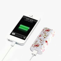 Elegant Floral Portable Power Bank Charger for iPhone and Samsung