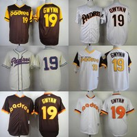Top Sale San Diego Padres Throwback Jerseys 19 Tony Gwynn White Blue Jerseys Camo Double Stithed Original Baseball Jersey Shirts S-4XL