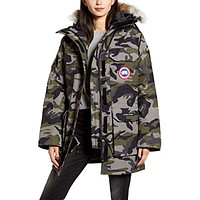 Expedition Hooded Down Parka with Coyote Fur Trim Camo