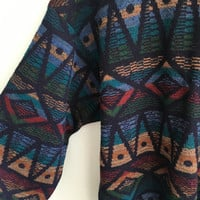 crazy vintage 90s oversized hipster navajo grunge sweater / XL / extra large