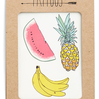 ModCloth Fruits Fruit for Thought Temporary Tattoo Set