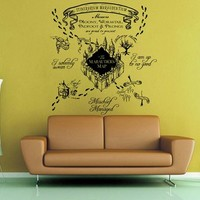 Maruader's Map - Harry Potter Wall Decal