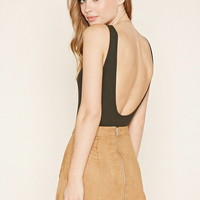 Scoop Back Ribbed Bodysuit | Forever 21 - 2000176242