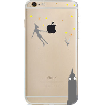 Disney Peter Pan Jelly Clear Case For Apple Iphone 7 PLUS