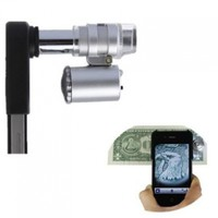 BrainyDeal Portable 60X Zoom Microscope Camera Lens for iPhone 4/4S with LED Light