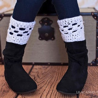 Super adorable child boot cuffs made to order you by Hiphopheather