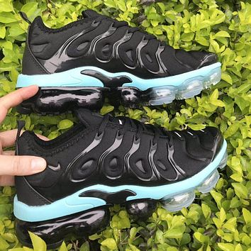 Nike Air Max Vapormax Plus Fashion Women Sport Running Shoes Sneakers Black&Blue