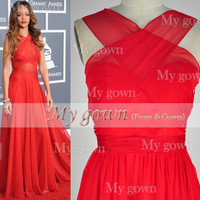 Star Style Sexy Backless Red Prom Gown,Dresses ,Wedding Dress,Cocktail Dress