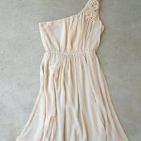 Sand & Ruffle Dress [5385] - $38.25 : Vintage Inspired Clothing & Affordable Dresses, deloom | Modern. Vintage. Crafted.