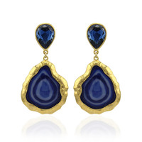 New Arrival Fashion Vintage Style Gold Plated Heart Shaped Enamel Pendant Romantic Statement Dangle Earrings Jewelry For women
