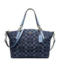 Coach Small Kelsey Satchel In Signature Denim F25891