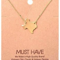 Must Have Necklace-State of Texas, Gold