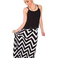 Dana Chevron Maxi Skirt