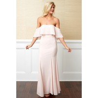 Rumor Has It Blush Pink Maxi Dress