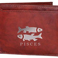 Pisces Sign Leather Wallets