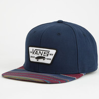 Vans All Over It Full Patch Mens Snapback Hat Navy One Size For Men 25073421001