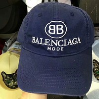 Balenciaga Stylish Unisex Letter Embroidery Sport Sunhat Embroidery Baseball Cap Hat Blue I-GQHY-DLSX