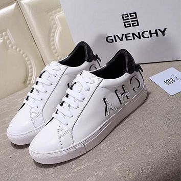 GIVENCHY Logo Lace-Up Sneakers in White-2