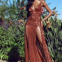 Lumunaria Sequined Maxi Dress