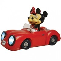Woods International Disney Garden LED Statue, 14-Inch, Mickey and Minnie Mouse Sports Car