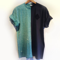 CUT AND SEW SPRAY ON TEE - OCEAN & ASPHALT
