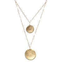 Double Strand Coin Necklace - Alicia Marilyn Designs