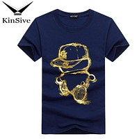 Men T Shirt Cartoon Boy Printed Brand Clothes Cotton Men Short Sleeve Tshirts Summer 2018 High Quality Hipster Tee Shirt Homme