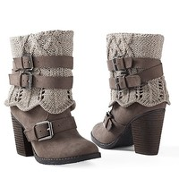 Women's Sweater buckle bootie