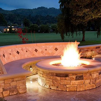 """Do-It-Yourself Ready-to-Finish 60"""" Circular Fire Pit Kit"""