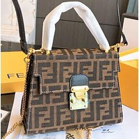 Fendi Fashion New More Letter Canvas Shopping Leisure Shoulder Bag Crossbody Bag Handbag