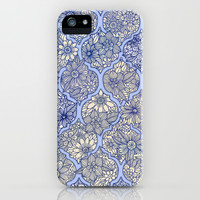 Moroccan Floral Lattice Arrangement - Purple iPhone & iPod Case by micklyn   Society6