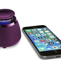 Wireless Bluetooth Speaker - BLKBOX POP360 Hands Free Bluetooth Speaker - for iPhones, iPads, Androids, Samsung and all Phones, Tablets, Computers (Party Purple)