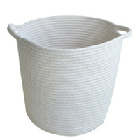 Skandinavian Miminalist Baskets. White Cotton Rope Laundry Basket, High-Quality Sundries Basket