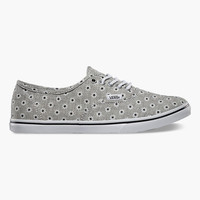 Vans Chambray Floral Authentic Lo Pro Womens Shoes Black/True White  In Sizes