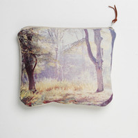 Linen Purse English Romantic woodland design