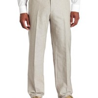 Kenneth Cole Reaction Men's Solid Rigid Waistband Flat Front Pant