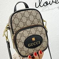 GG new product stitching color letter printing ladies small mobile phone bag shoulder bag cosmetic bag