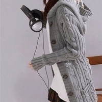 Knitting Long Sleeved Womens Cardigan Sweater Free Size = 1920324356
