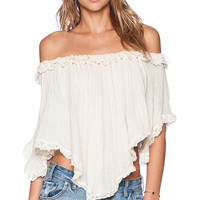 Jen's Pirate Booty Constellation Top in Cream