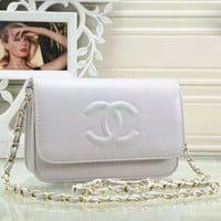 New fashion leather chain shoulder bag crossbody bag women White