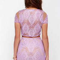 Royal Road Lavender Lace Two-Piece Dress