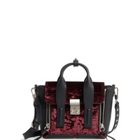 3.1 Phillip Lim Mini Pashli Velvet & Leather Satchel | Nordstrom