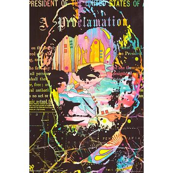 "Poster: Dean Russo - Abe's Proclamation Art (24""x36"")"