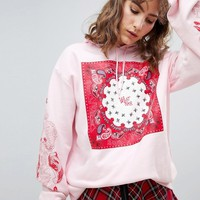 Cheap Monday Paisley Oversize Hoodie at asos.com