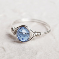 Crystal Light Sapphire Ring