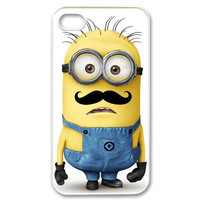 Despicable Me Minion with Cute Mustache iphone 5 case cover