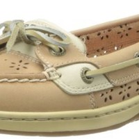 Sperry Top-Sider Women's Angelfish Perforated Boat Shoe,Linen,8 M US