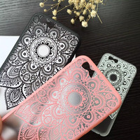 Classic Lace Mandala Flower Phone Cases For Apple iphone 6 Case For iphone6 6S Plus Cover Sexy Beautiful Datura Floral Capa NEW!
