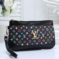 LV Louis Vuitton Women Fashion Leather Clutch Bag Satchel Tote