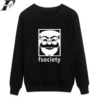 LUCKYFRIDAYF Mr Robot Fsociety Hip Hip Style Harajuku Sweatshirt Men in Mens Hoodies and Sweatshirts Brand 3xl 4xl